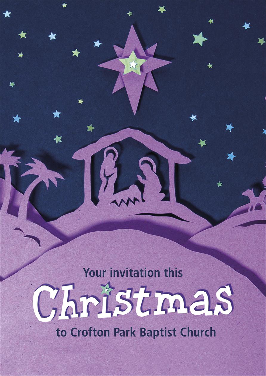 church christmas invitations