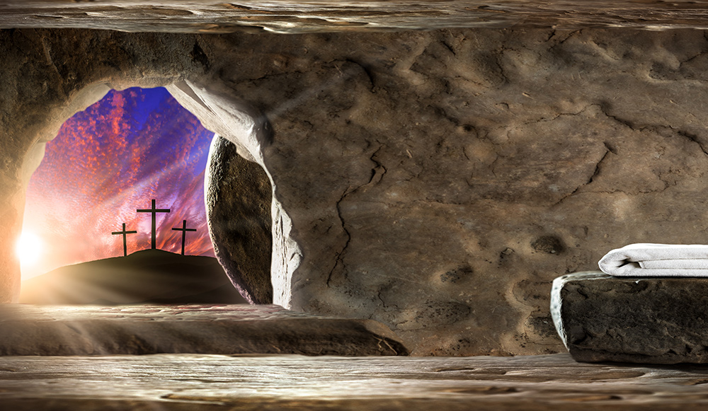 Picture of the empty tomb