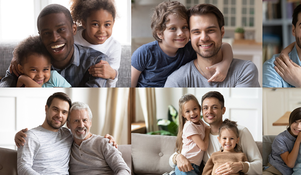 Photos of Fathers and children